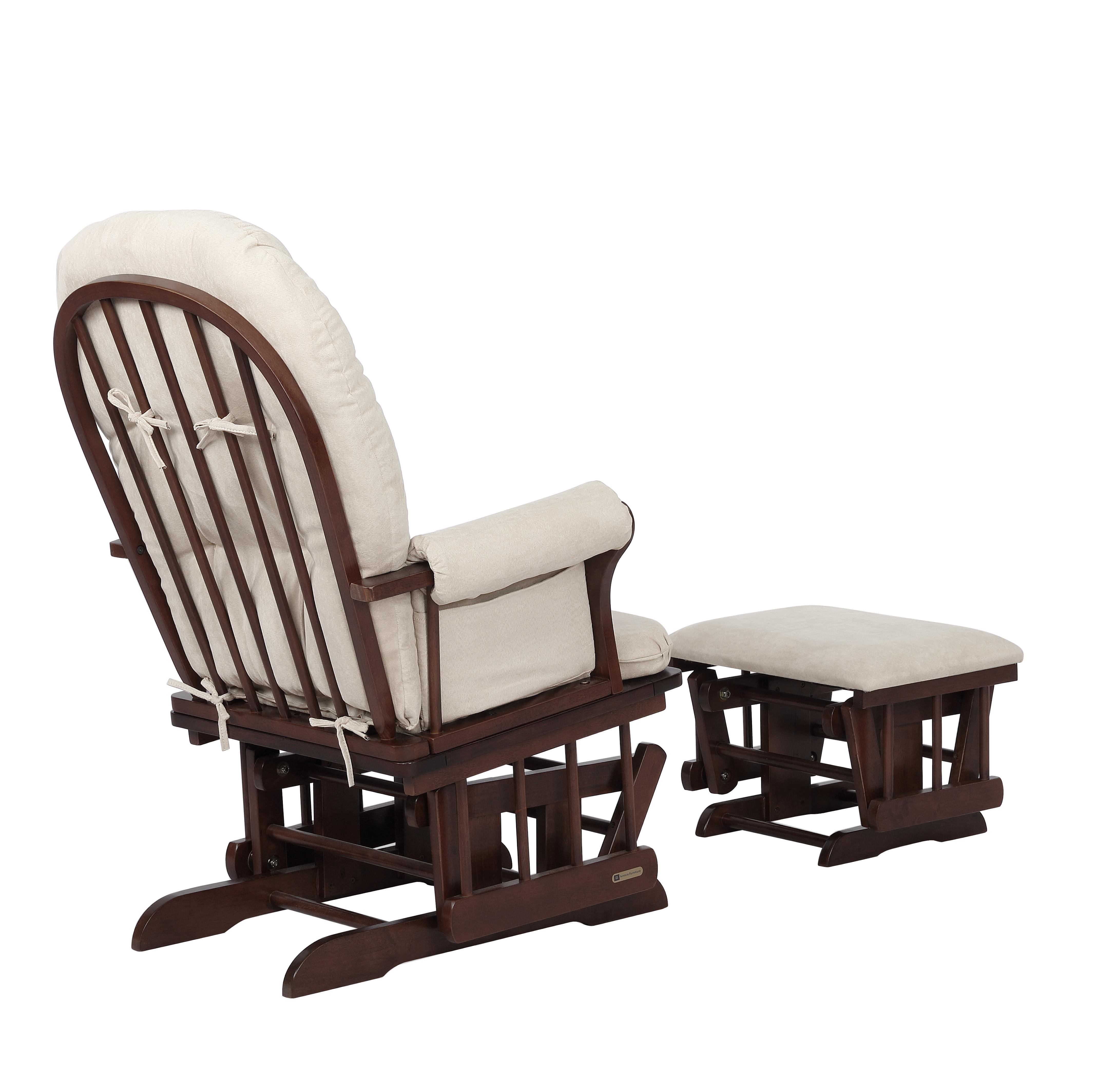Stupendous Glider Chair And Ottoman Combo Espresso Beige 7083Cb 02 0182 Short Links Chair Design For Home Short Linksinfo