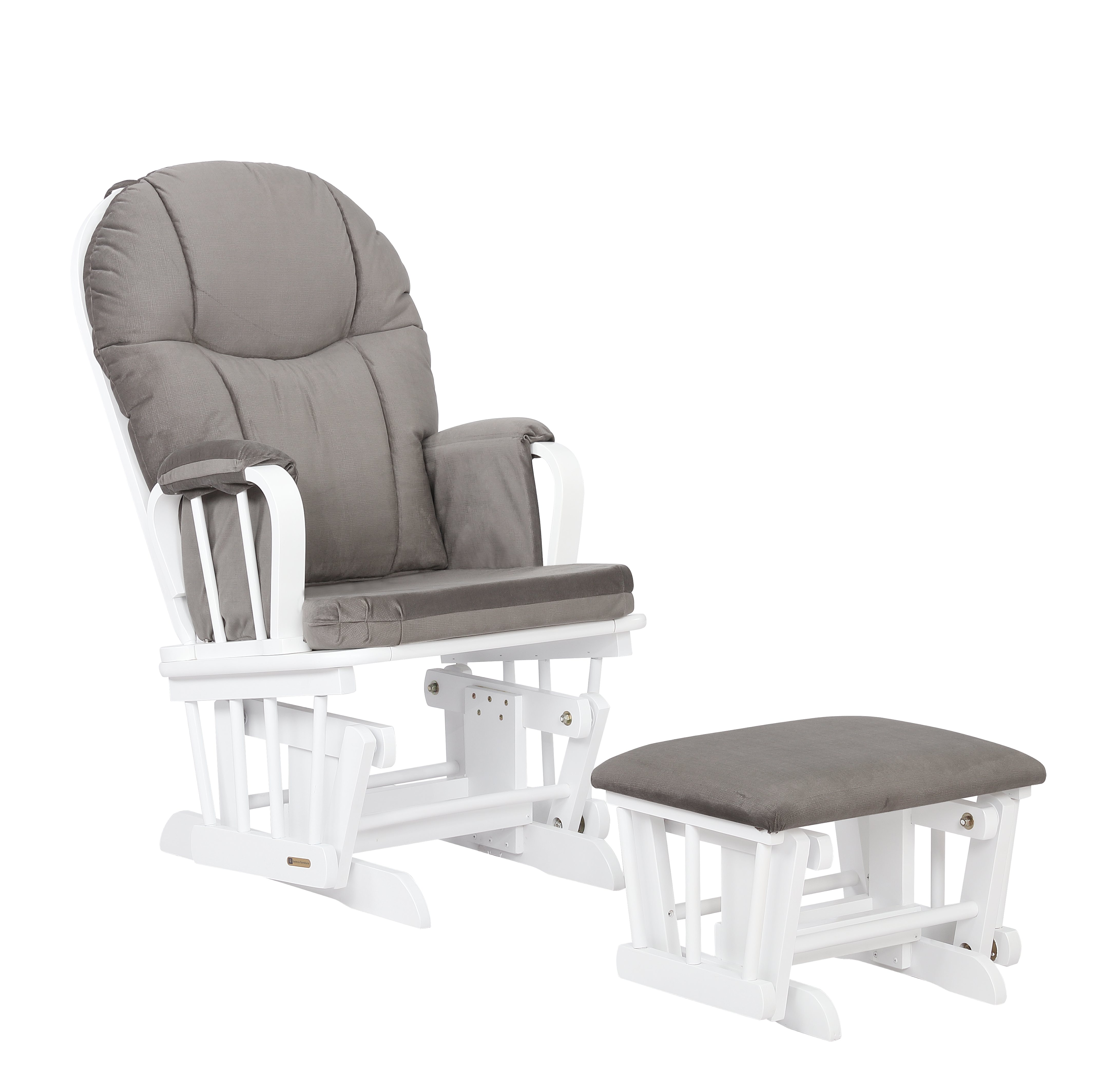 Extra Wide Glider Chair And Ottoman Combo White Light